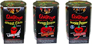 Pepper Plant Trio - Ghost Chili, Scorpion and Moruga Scorpion Bundle. Easy to Grow