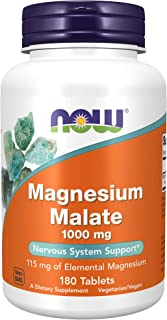 NOW Supplements, Magnesium Malate 1000 mg, 180 Tablets