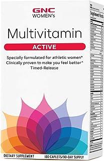 GNC Women's Ultra Mega Active Multivitamin, 180 Caplets, Supports Active Women