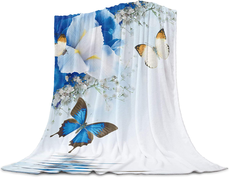 TocaHome Plush Fuzzy Fleece Lightweight OFFicial mail order Throw Blanket Butterflie Popular