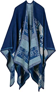 Women's Extra Large Spring and Autumn Long Stole Soft Warm Scarf Shawl Navy