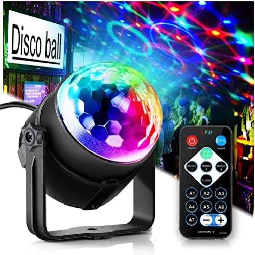 Party Lights Disco Ball Disco Lights, TONGK 7 Colors Dj Lighting Led Strobe Light Sound Activated Stage Lights Effect...