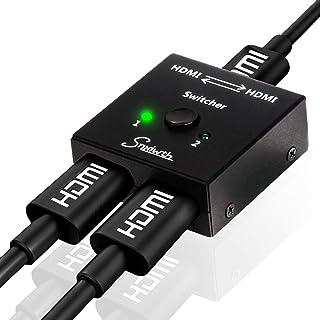 Snxiwth HDMI Switch 4K från HDMI Dubbelriktad switch 2 in 1 Out och 1 in 2 Out för HDTV/Blu-Ray Player/DVD/DVR/Xbox / PS4 ...