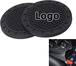 AOOOOP Car Interior Accessories for Subaru Cup Holder Insert Coaster - Silicone Anti Slip Cup Mat for Subaru Forester Outback Impreza Legacy Crosstrek Ascent BRZ WRX (Set of 2, 2.75