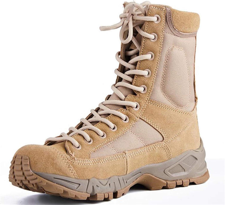 San Jose Mall BSFSDWX Ranking TOP19 Men Combat Tactical Boots Leather Outdoor Desert Hiking