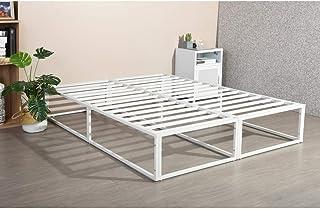 HOMYCASA Cadre de lit double en métal solide de 1,2 m avec grand espace de rangement pour adultes et enfants, taille 190 x...