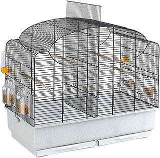 Ferplast Domek dla ptaków dla kanarków i Exoten CANTO, klatka nadaje się również do okresu lęgowego ze ścianką działową i ...