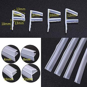 dDanke - Tira de sellado flexible para mampara de ducha (100 cm de longitud, para cristal de 6-12 mm), 6 cm: Amazon.es: Hogar