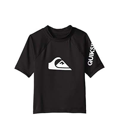 Quiksilver Kids All Time Short Sleeve Rashguard (Big Kids) (Black 2) Boy