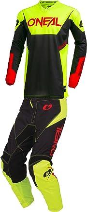 Motocross Off-Road Dirt Bike Jersey /& Lite Pant ONeal Mens Black /& White Medium//32W 2019 Mayhem Hexx MX Riding Gear Combo Set