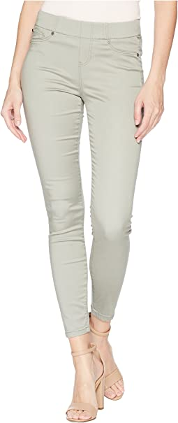 Chloe Ankle Pull-On Leggings in Micro-Peached Twill in Faded Seagrass