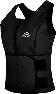 AQUIVA Neoprene Sweat Sauna Suit Trainer Vest for Women with Adjustable Waist Trimmer Belt for Weight Loss