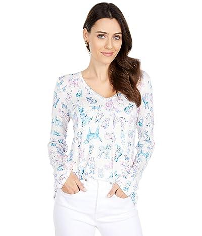 Lilly Pulitzer Pj Knit Long Sleeve Top (Coconut Furbulous) Women