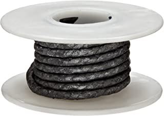 Palmetto 1585 Series Carbon with Graphite Coating Compression Packing Seal, Dull Gray, 1/8
