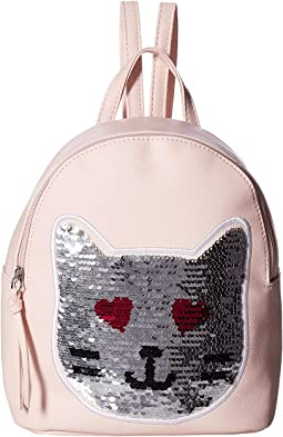 Sequin Patch Cat Backpack