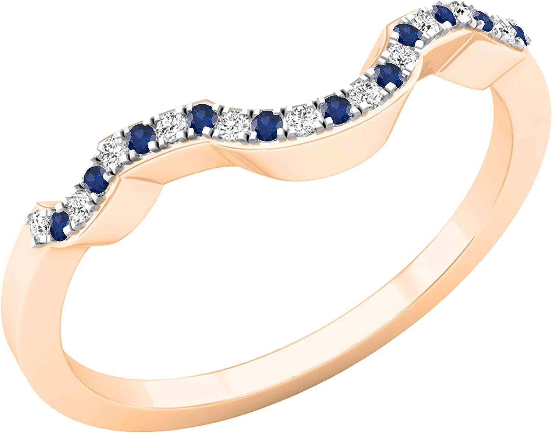 Dazzlingrock Collection Many popular brands Round Blue Wedd Sapphire Diamond Max 55% OFF White