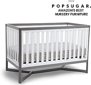 Delta Children Tribeca 4-in-1 Baby Convertible Crib, White/Grey