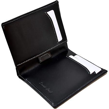 Portefeuille Homme Slim Noir - Cuir Naturel Véritable - Blocage RFID - 11 Cartes de crédit, Porte Monnaie et Billets - Ultra Fin, Classique, Elégant et Moderne - (Idéal pour Un Cadeau)