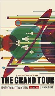 NASA JPL Space Tourism Poster – The Grand Tour - Jupiter - Saturn - Uranus - Neptune - Home Decor Wall Art Print
