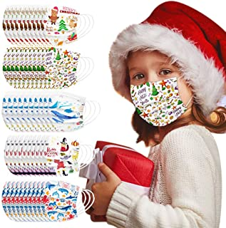 Padaleks 50Pcs Kids Face Madks, Disposable 3 Ply Breathable Anti Dust Mouth Coverred for Children Boys Girls Colorful Cart...