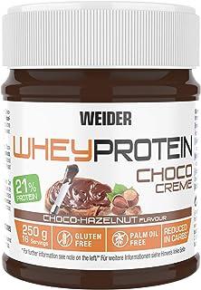 comprar comparacion Weider Whey Protein Spread 250 g. Crema de avellana con 22% de proteínas Baja en azúcares Sin aceite de palma y sin gluten.