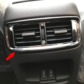 Beautost Fit For Honda 2017 2018 2019 CR-V CRV Interior Rear Seat Air Condition Vent Outlet Cover Trim (Black)