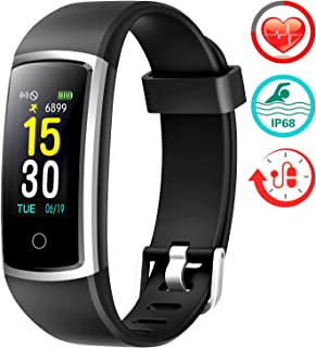 FITFORT Fitness Tracker with Blood Pressure HR Monitor - 2019 Upgraded Activity Tracker Watch with Heart Rate Color Monito...