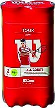 Wilson Tour Comp Pelotas de tenis, 2 tubos con 4 pelotas