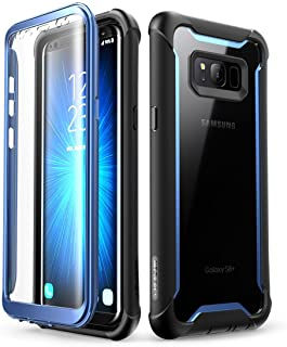 Samsung Galaxy S8+ Plus case, i-Blason [Ares] Full-Body Rugged Clear Bumper Case with Built-in Screen Protector for Samsun...