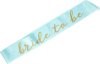 Creative Converting Bride to Be Sash Bridal Shower Accessory, One size, Mint Green