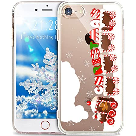 Coque iPhone 6S,Coque iPhone 6,Cerf de flocon de neige de Noël ...