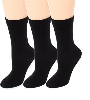 Womens Diabetic Socks | Seamless Toe + Non-Binding | Crew 3 Pack Size 9-11