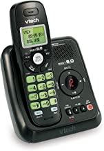 VTech VA17241BK DECT 6.0 Cordless Phone with Answering System and Caller ID, Wall-Mountable, Black