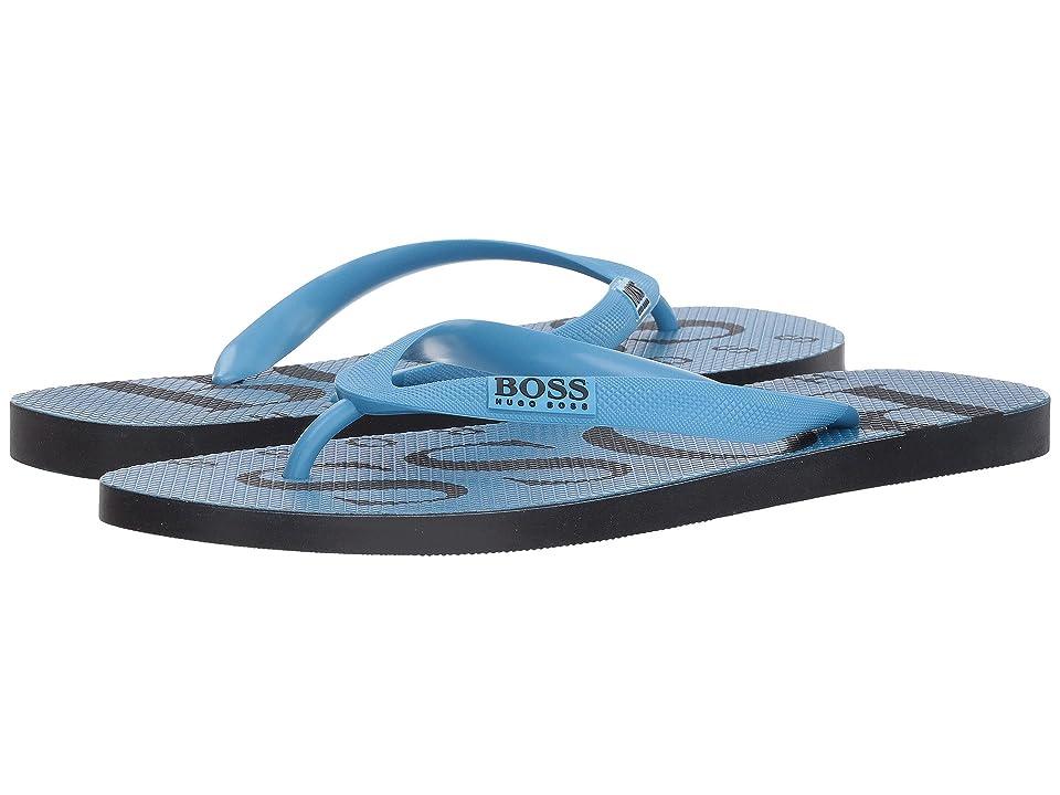 BOSS Hugo Boss Wave Thong Sandal By Boss Green (Pastel Blue) Men