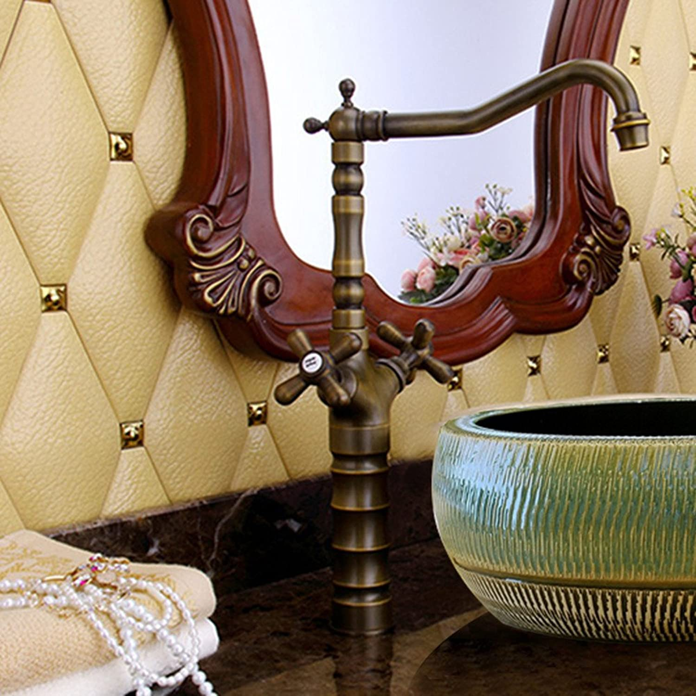 LHbox Basin Mixer Tap Bathroom Sink Faucet All copper continental antique bamboo-basin surface basin mixer