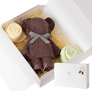 ブルーム 今治タオル タオルベア タオルギフト ベア & お花 かわいい タオル ギフト プレゼント 日本製 (ブラウン)