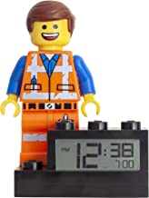 ClicTime 9003967 Kids Minifigure Light Up Alarm colour | plastic | 9.5 inches tall | LCD display | boy girl | official Lego Movie 2 Emmet Clock