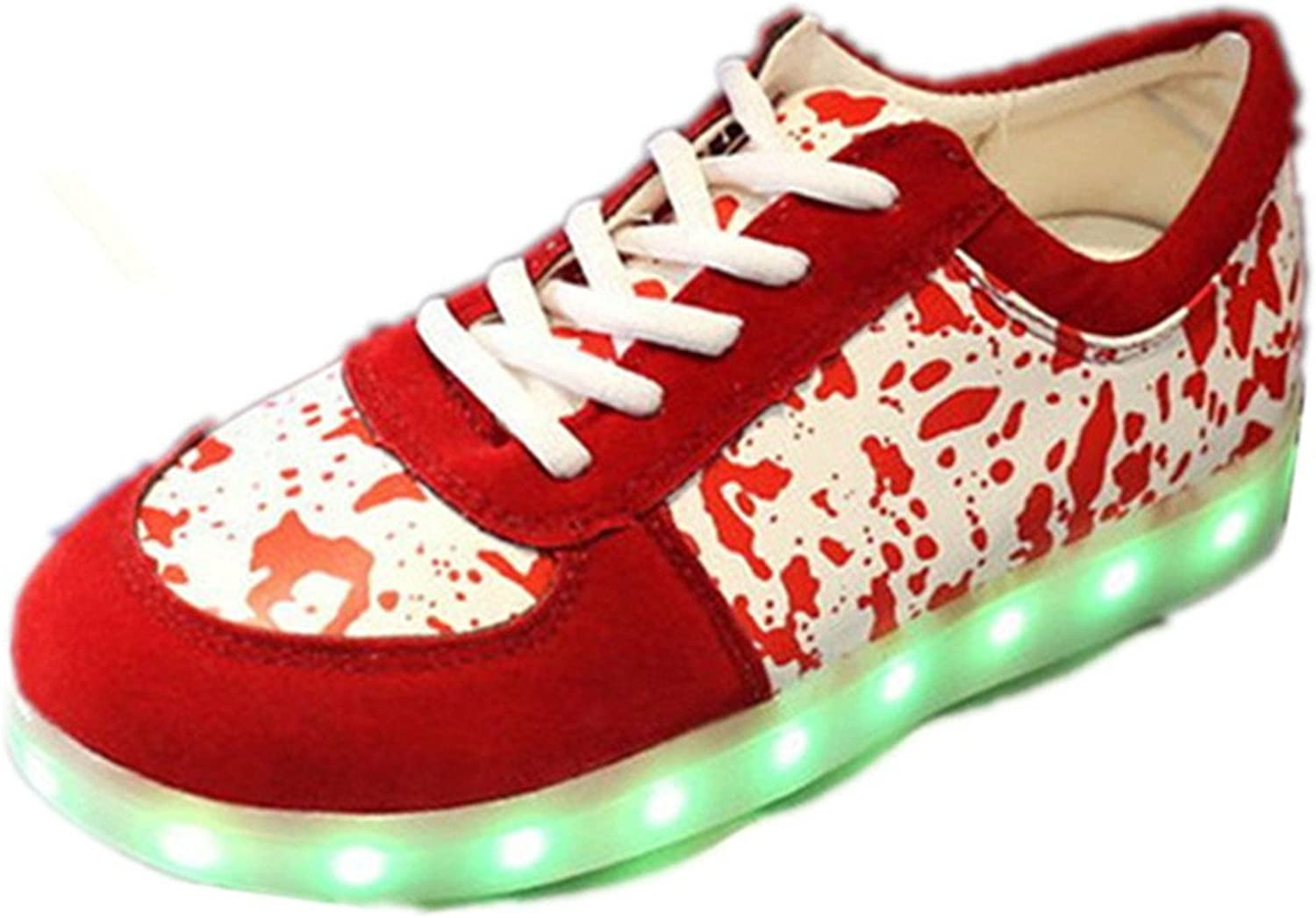 Reinhar Prevailing7 colors LED shoes Men& Women Flashing Fashion Sneakers colorful Glowing Party shoes