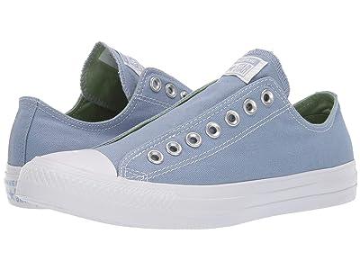 Converse Chuck Taylor All Star Slip-On (Indigo Fog/Peat Moss/White) Slip on Shoes