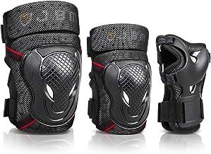 JBM BMX Bike Pad Knee and Elbow Padads with محافظ مچ دست برای محافظت از ایمنی دوچرخه سواری ، دوچرخه سواری ، دوچرخه سواری و چند ورزش: اسکوتر ، اسکیت بورد ، دوچرخه ، اسکیت های درون خطی