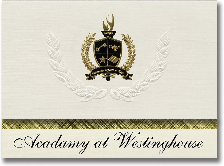 Signature Ankündigungen Acadamy Acadamy Acadamy bei Westinghouse (Pittsburgh, PA) Graduation Ankündigungen, Presidential Stil, Elite Paket 25 Stück mit Gold & Schwarz Metallic Folie Dichtung B078VCSLVB   | Das hochwertigste Material  4f0b14