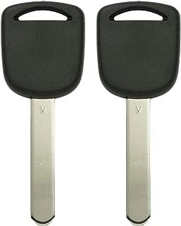 Keyless2Go New Uncut Replacement Transponder V Chip Ignition Car Key HO03 (2 Pack)