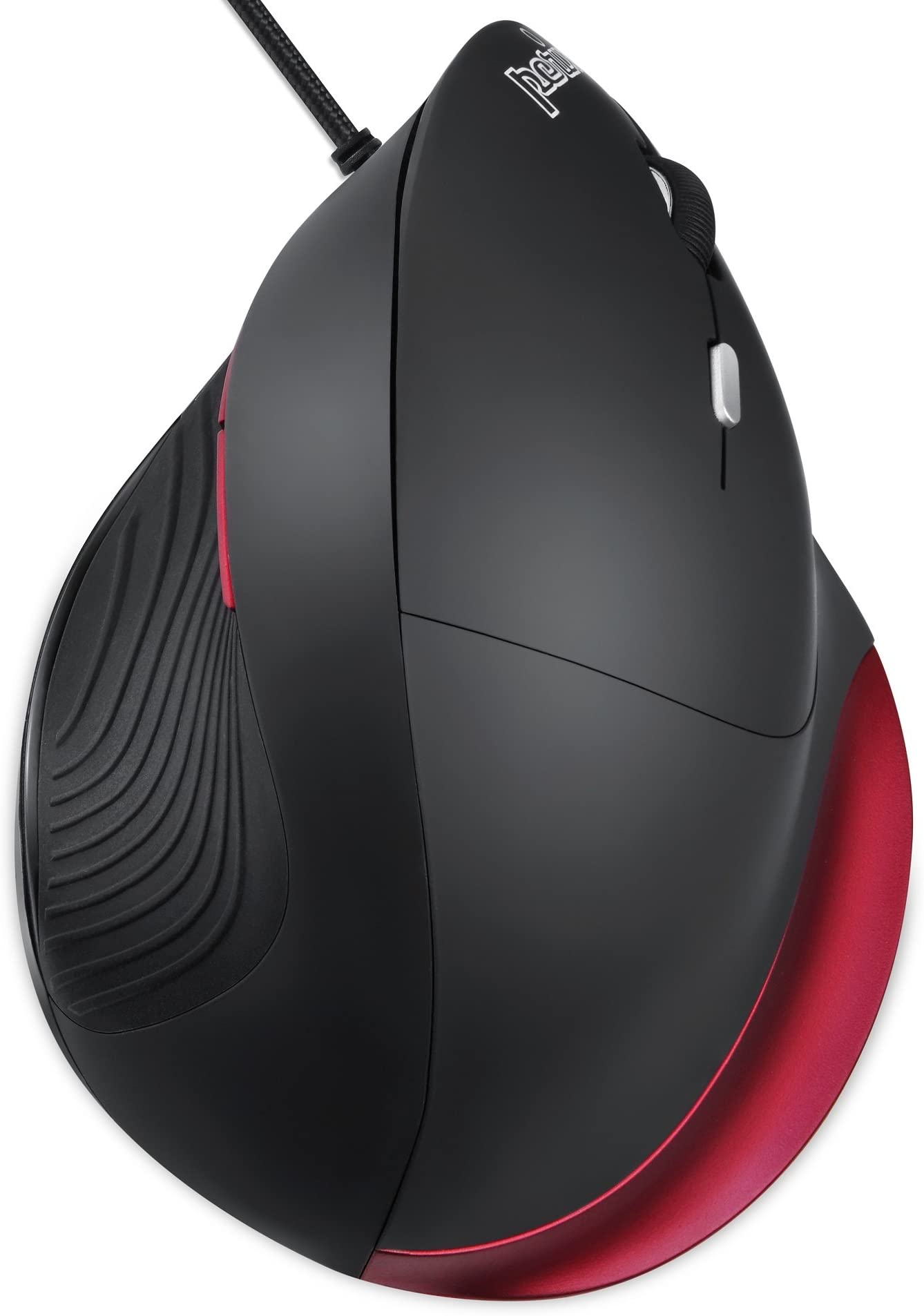 Perixx PERIMICE-518R Wired Vertical USB Mouse, 6 Buttons and 2 Level 1000/1600 DPI, Right Handed Design