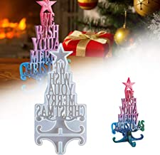Christmas Resin Moulds- We Wish You A Merry Christmas Silicone Mold Christmas Tree Letter Epoxy Resin Mould for Xmas Home ...