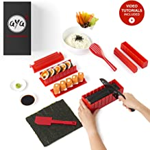 Aya Sushi Making Kit - Original Sushi Maker Deluxe Exclusive Online Video Tutorials Complete with Sushi Knife 11 Piece DIY Sushi Set - Easy and Fun - Sushi Rolls - Maki Rolls