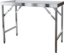 SSTABLEFD Stainless Steel Portable Folding Work Table