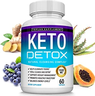 Keto Detox Pills Advanced Cleansing Extract – 1532 Mg Natural Acai Colon Cleanser Formula Using Ketosis & Ketogenic Diet, ...