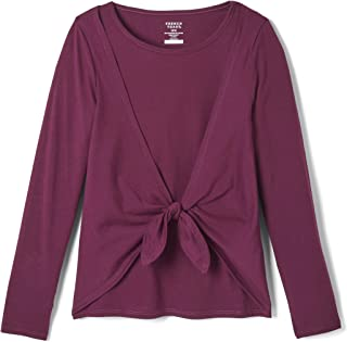 French Toast Girls' Tie Front Fashion Top