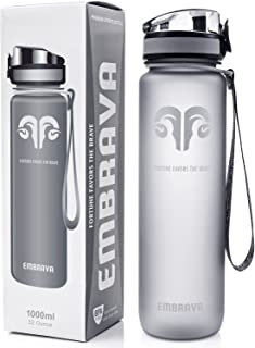 Embrava Best Sports Water Bottle - 32oz Large - Fast...