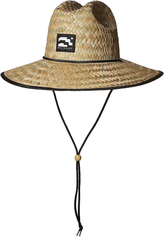 BROOKLYN ATHLETICS Men's Straw Miami Mall Sun Selling rankings Raffia Wi Beach Lifeguard Hat